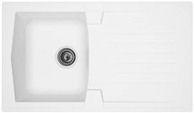 Respekta Miner Cristalite /Évier /Évier de cuisine /évier /Évier encastrable Boston blanc 100/x 50