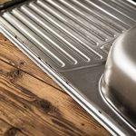 Rieber E 86K Évier de cuisine encastrable en acier inoxydable 1bac avec égouttoir Fabriqué en Allemagne 860x 435mm de la marque Rieber image 4 produit