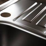 Rieber Évier encastrable Marilyn 100Compact en acier inoxydable évier de cuisine fabriqué en Allemagne 608x 500mm 1bac avec égouttoir évier lisse longue durée et inoxydable Facile d'entretien robuste Meuble 45cm de la marque Rieber image 3 produit