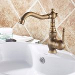 Rmckuva Robinets De Lavabo Brass Retro Single Handle Faucet Bathroom Faucet 360 ° Swivel Basin Sink Faucet Mixer de la marque Rmckuva image 1 produit