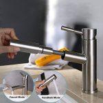 Robinet Cuisine Pull-Out Douchette Acier inox 304 avec tuyau 2 pièces pour salle de bains de la marque S-Chanson image 4 produit