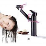 Robinet de lavabo en cuivre Salle de bain noir Trou unique Nordic Lavabo Robinet de lavabo pivotant de la marque XIAOQI image 1 produit