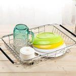 SANN Drain de lave-vaisselle réglable Support de la cuvette sur l'évier Purificateur de fruits et d'ustensiles de cuisine Filtre de cuisine fonctionnel Fil de séchage du fil d'acier inoxydable de la marque SANNO image 1 produit