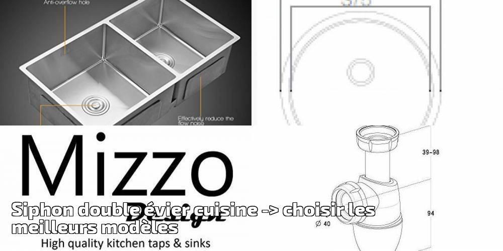 siphon double vier cuisine pour 2018 choisir les meilleurs mod les eviers et robinets. Black Bedroom Furniture Sets. Home Design Ideas