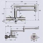SJQKA-acier inoxydable 304 à double trou robinet, mur type cuisine le chaud et le froid du robinet, balcon évier, plat robinet, plier les robinets de la marque SJQKA image 2 produit