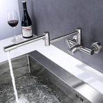 SJQKA-acier inoxydable 304 à double trou robinet, mur type cuisine le chaud et le froid du robinet, balcon évier, plat robinet, plier les robinets de la marque SJQKA image 1 produit