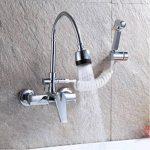 SJQKA-dans la paroi de l'eau chaude et froide du robinet, bassin plat plat, évier, cuisine robinet, single double portait les robinets,b - de la marque SJQKA image 3 produit
