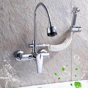 SJQKA-dans la paroi de l'eau chaude et froide du robinet, bassin plat plat, évier, cuisine robinet, single double portait les robinets,b - de la marque SJQKA image 0 produit