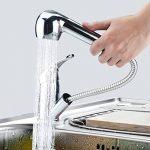 TANBURO Robinet Mitigeur cuisine avec douchette en laiton de finition chromée, Valve en céramique Robinet lavabo avec deux modes d'écoulement d'eau - R3/8 de la marque TANBURO image 1 produit