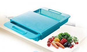 Universel Plus de planches à découper évier Passoire Passoire Plastique alimentaire bleu de la marque SA Products image 0 produit