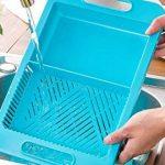 Universel Plus de planches à découper évier Passoire Passoire Plastique alimentaire bleu de la marque SA Products image 4 produit