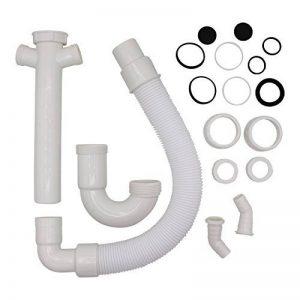 'VARIOSAN Flexible Tube siphon 11497, 11/2&quot, 2connexions 1, pour siphon pour évier de cuisine, lave-vaisselle et machine à laver de la marque VARIOSAN image 0 produit