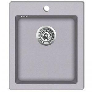 vidaXL Évier de cuisine encastrable à 1 bac en granite gris de la marque vidaXL image 0 produit