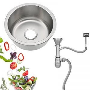 Évier de Cuisine Évier 1 Bac Encastré Rond en Acier Inoxydable 41x19 cm de la marque Prit2016 image 0 produit
