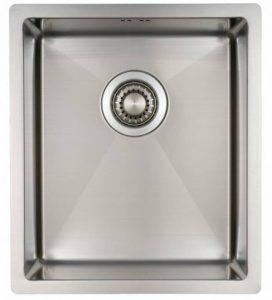 Évier/ lavabo Mizzo Linea 34-40 - évier de cuisine acier inoxydable - 1 bac - lavabo de cuisine carré - montage à fleur ou sous plan - inox brossé de la marque Mizzo Design ® image 0 produit