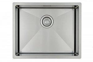 Évier/ lavabo Mizzo Linea 50-40 - évier de cuisine acier inoxydable - 1 bac - lavabo de cuisine carré - montage à fleur ou sous plan - inox brossé de la marque Mizzo image 0 produit