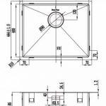Évier/ lavabo Mizzo Linea 50-40 - évier de cuisine acier inoxydable - 1 bac - lavabo de cuisine carré - montage à fleur ou sous plan - inox brossé de la marque Mizzo image 2 produit