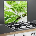 WENKO 2712927500 Plaque multi Botte d'herbes - pour plaques de cuisson vitrocéramiques, planche à découper, Verre trempé, 50 x 0.5 x 56 cm, Multicolore de la marque Wenko image 2 produit