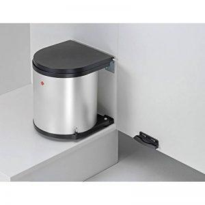 Wesco Poubelle ronde argentée encastrable / pour armoires à partir de 40cm de largeur / poubelle pivotante de la marque Wesco image 0 produit